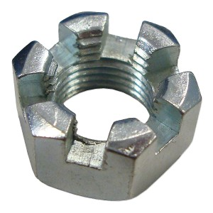 slotted steel hex nuts